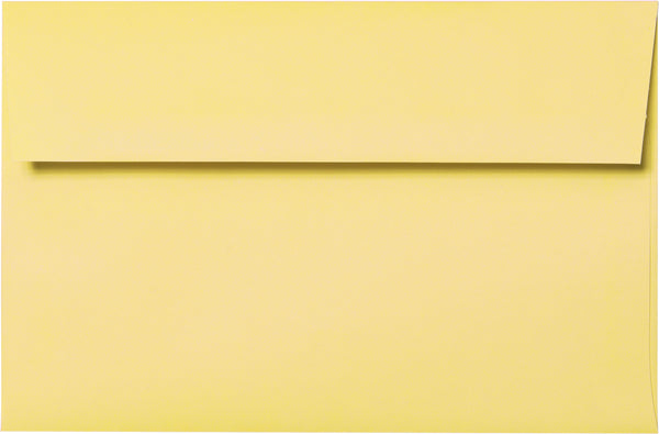 A-7 Banana Yellow Solid Envelopes (5 1/4