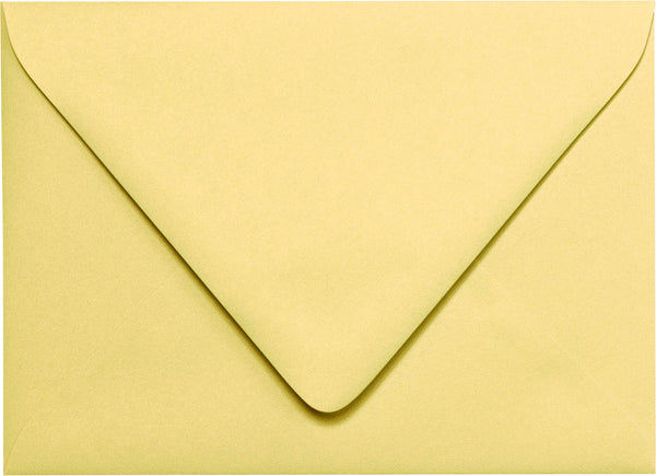 A-7 Euro Flap -Banana Yellow Solid Euro Flap Envelopes - Paperandmore.com