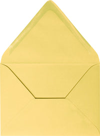 "A-2 Banana Yellow Solid Euro Flap Envelopes (4 3/8"" x 5 3/4"") - Paperandmore.com"