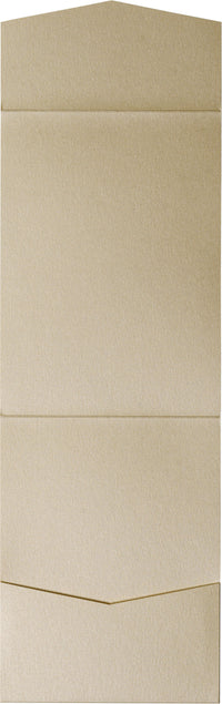 Beige Sand Metallic Pocket Invitation Card, A7 Cascade