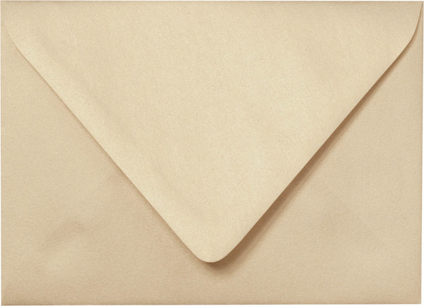 "Outer A-7.5 Beige Sand Metallic Euro Flap Envelopes (5 1/2"" x 7 1/2"") - Paperandmore.com"