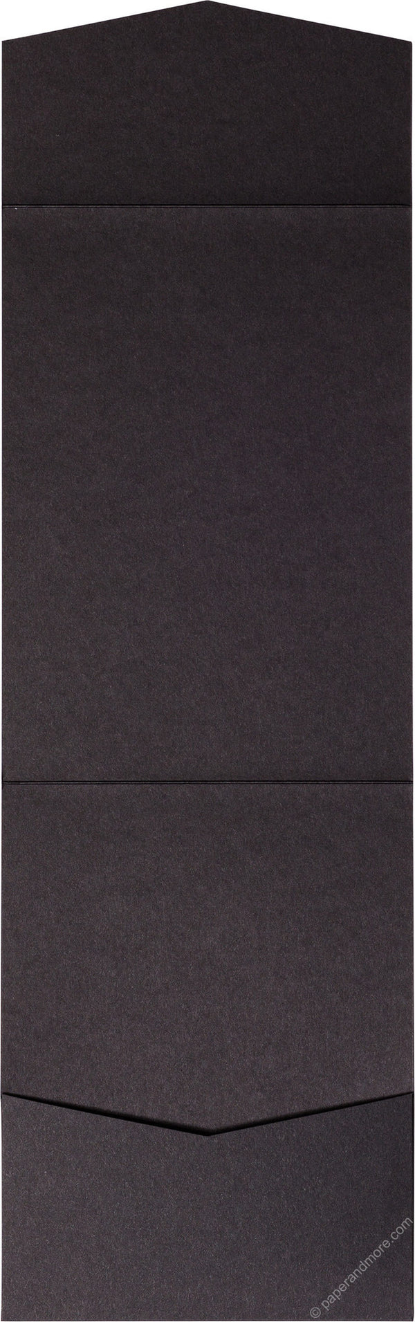 Black Solid Pocket Invitation Card, A7 Cascade - Paperandmore.com