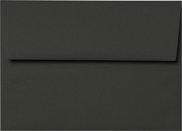 A-8 Black Solid Envelopes (5 1/4