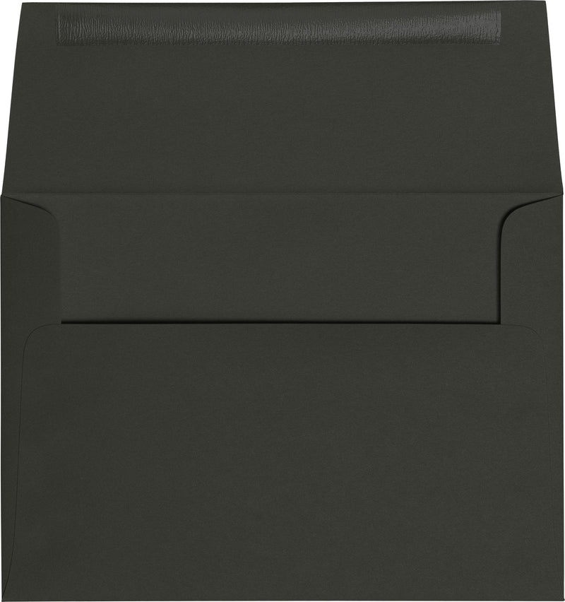 "A-9 Black Solid Envelopes (5 3/4"" x 8 3/4"") - Paperandmore.com"