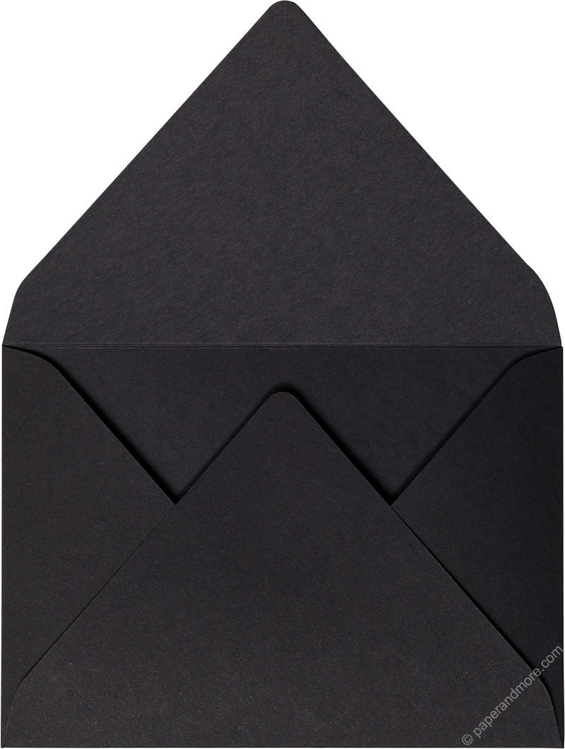 Black Solid - A-7 Euro Flap Card Enclosure