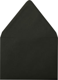 "Outer A-7.5 Solid Black Euro Flap Envelopes (5 1/2"" x 7 1/2"")"