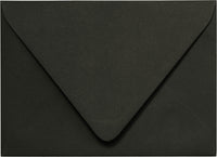 "A-7 Solid Black Euro Flap Envelopes (5 1/4"" x 7 1/4"")"