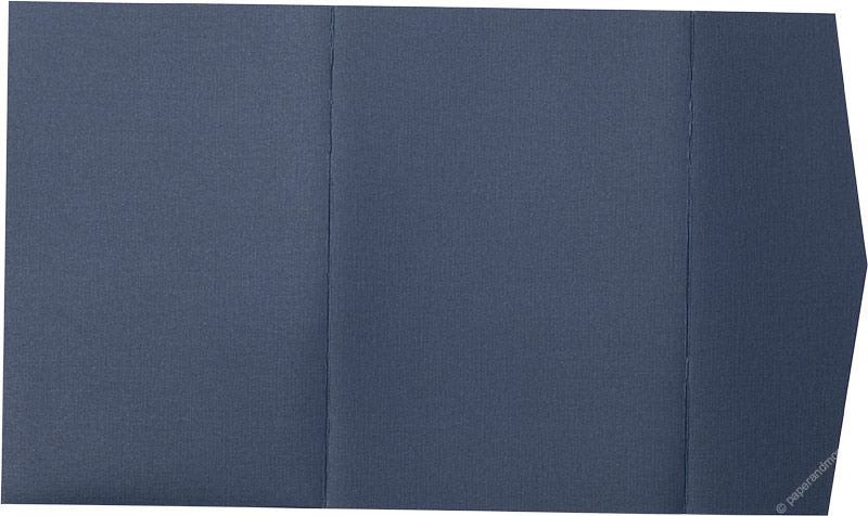 Blazer Blue Linen Pocket Invitation Card, A-7.5 Himalaya