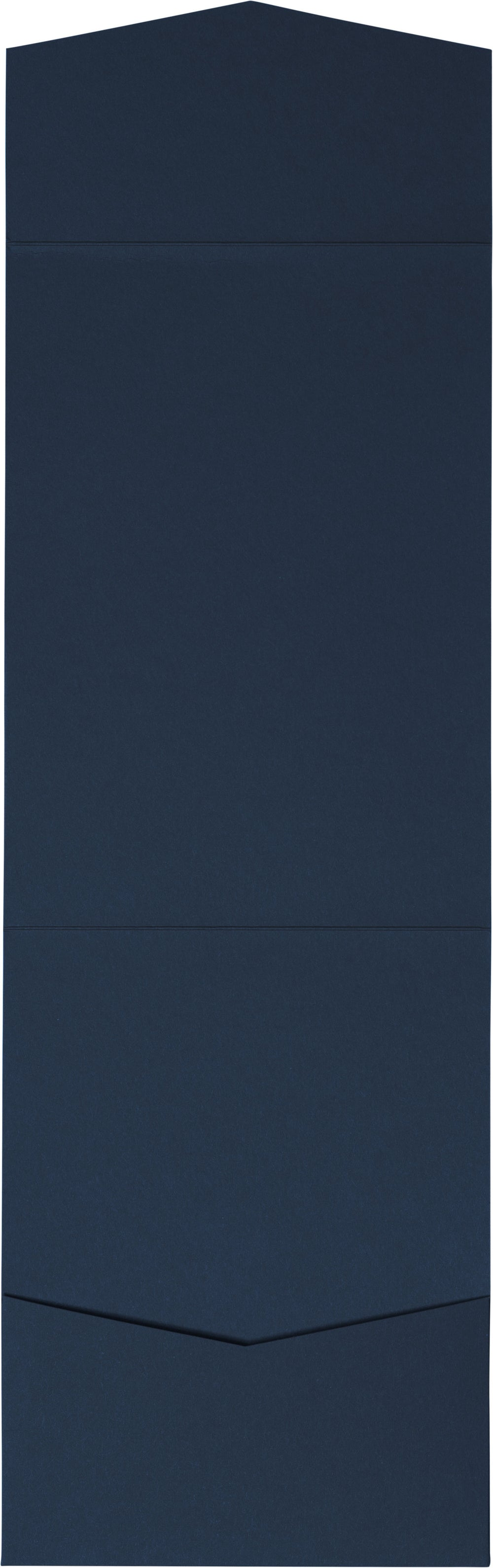 Blazer Blue Solid Pocket Invitation Card, A7 Cascade