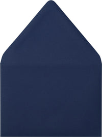 "A-9 Blazer Blue Solid Euro Flap Envelopes (5 3/4"" x 8 3/4"") - Paperandmore.com"