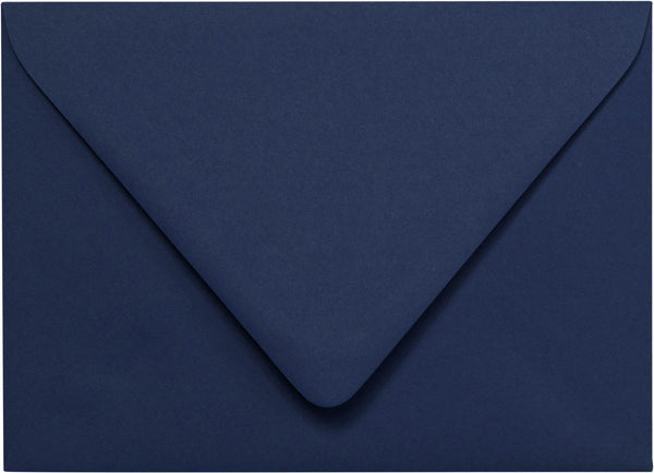 "Outer A-7.5 Blazer Blue Solid Euro Flap Envelopes (5 1/2"" x 7 1/2"") - Paperandmore.com"