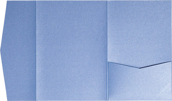 Blue Vista Metallic Pocket Invitation Card, A7 Himalaya - Paperandmore.com