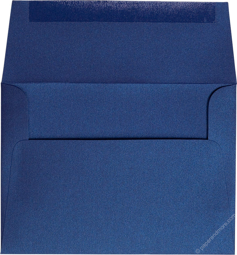 "A-7 Blueprint Blue Metallic Envelopes (5 1/4"" x 7 1/4"") - Paperandmore.com"