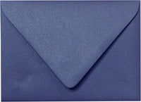 "A-2 Blueprint Blue Metallic Euro Flap Envelopes (4 3/8"" x 5 3/4"")"