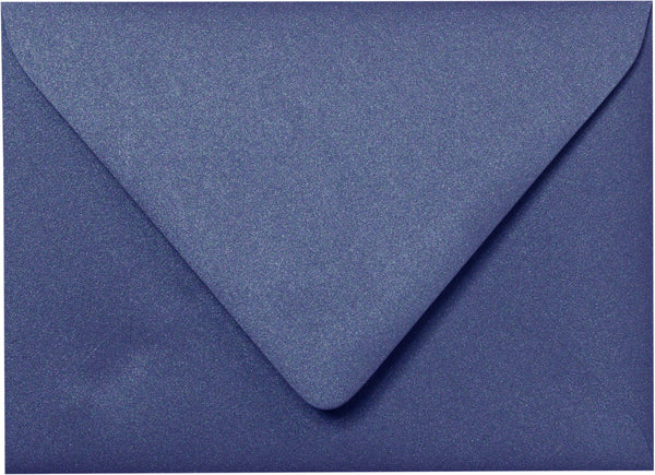 "A-7 Blueprint Blue Metallic Euro Flap Envelopes (5 1/4"" x 7 1/4"") - Paperandmore.com"