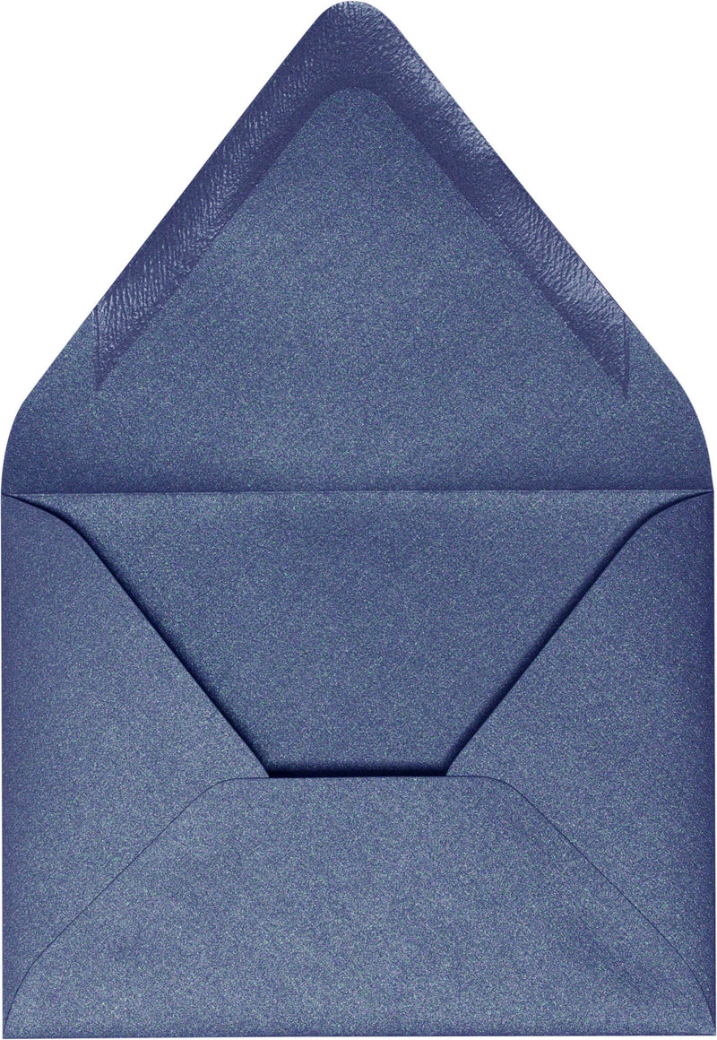 "A-2 Blueprint Blue Metallic Euro Flap Envelopes (4 3/8"" x 5 3/4"") - Paperandmore.com"
