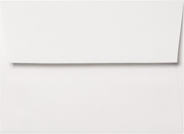 "A-7 Bright White Cotton Envelopes (5 1/4"" x 7 1/4"") - Paperandmore.com"