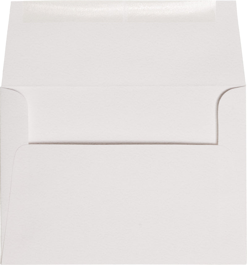 "Outer A-7.5 Bright White Cotton Square Flap Envelopes (5 1/2"" x 7 1/2"") - Paperandmore.com"