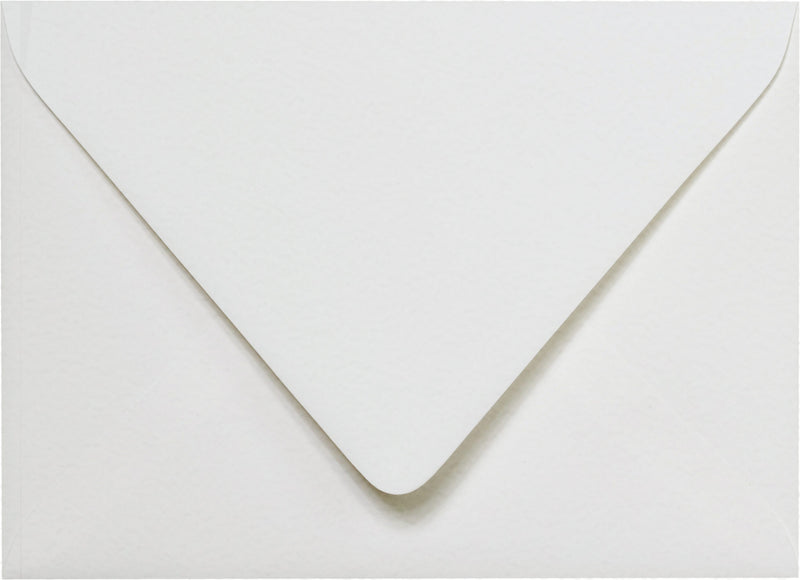 "Outer A-7.5 Bright White Cotton Euro Flap Envelopes (5 1/2"" x 7 1/2"") - Paperandmore.com"