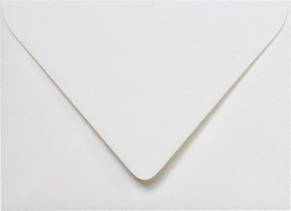A-7 Bright White Cotton Euro Flap Envelopes 5 1/4