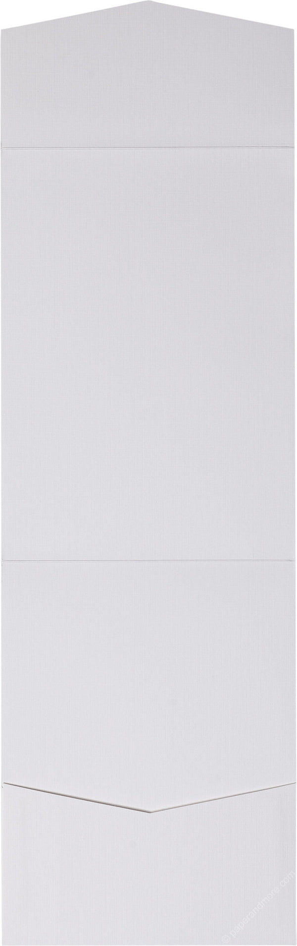 Bright White Linen Pocket Invitation Card, A7 Cascade - Paperandmore.com
