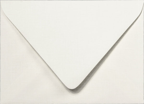 A-7 Bright White Linen Euro Flap Inner Envelopes - Ungummed - (5 1/4
