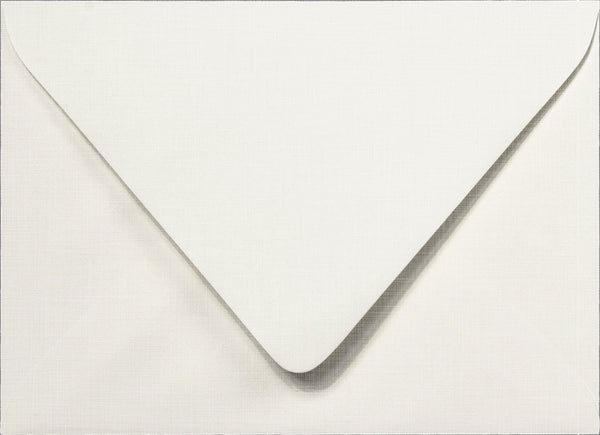 A-7 Bright White Linen Euro Flap Envelopes 5 1/4