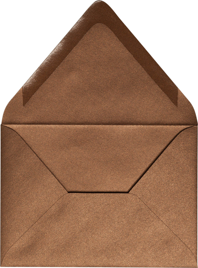 "A-7 Bronze Brown Metallic Euro Flap Envelopes (5 1/4"" x 7 1/4"") - Paperandmore.com"