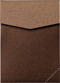 Bronze Brown Metallic Pocket Invitation Card, A7 Cascade - Paperandmore.com