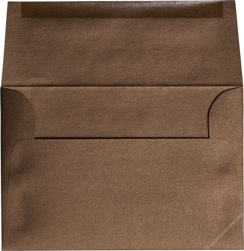 "A-7 Bronze Brown Metallic Envelopes (5 1/4"" x 7 1/4"") - Paperandmore.com"