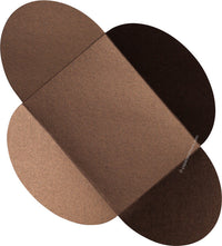 "Bronze Brown Metallic Petal Cards 105#, 5 1/8"" x 7"" - Paperandmore.com"