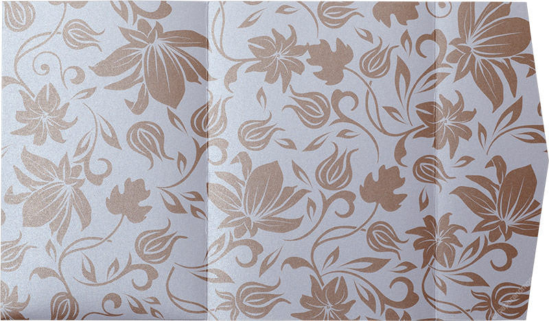 Brown Spring Bloom on Pearl White Metallic, A7 Himalaya - Paperandmore.com