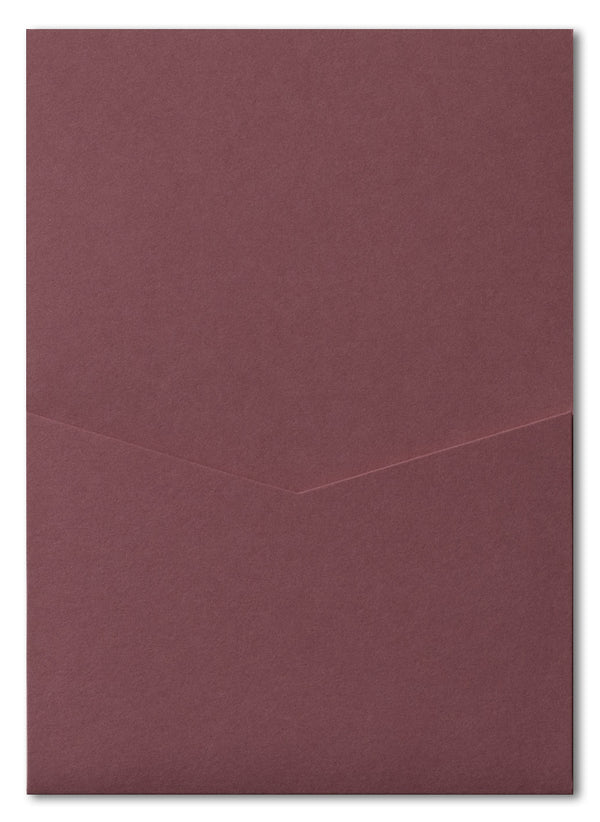 Burgundy Solid Pocket Invitation Card, A7 Denali