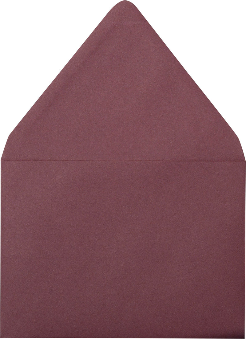 "A-1 (RSVP) Burgundy Solid Euro Flap Envelopes (3 5/8"" x 5 1/8"") - Paperandmore.com"