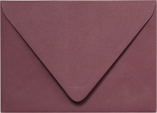 "A-7 Burgundy Euro Flap Solid Envelopes (5 1/4"" x 7 1/4"") - Paperandmore.com"