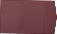 Burgundy Solid Pocket Invitation Card, A-7.5 Himalaya