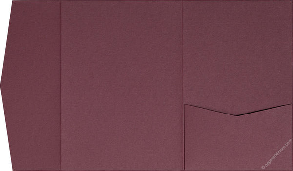 Burgundy Solid Pocket Invitation Card, A7 Himalaya - Paperandmore.com
