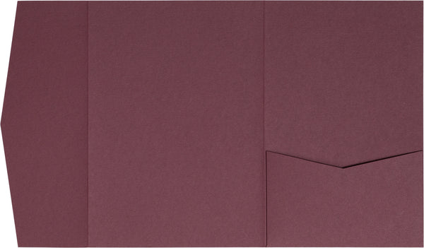 Burgundy Solid Pocket Invitation Card, A-7.5 Himalaya - Paperandmore.com