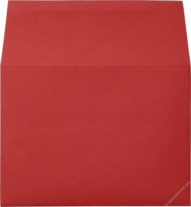 "Red 5 1/4"" x 7 1/4"" Envelopes (A7) - Paperandmore.com"