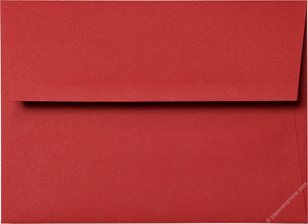 Red 5x7 Envelopes (A7) - Paperandmore.com