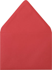 "A-1 (4 Bar) Cherry Red Solid Euro Flap Envelopes (3 5/8"" x 5 1/8"") - Paperandmore.com"