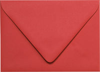 "A-7 Cherry Red Solid Euro Flap Envelopes (5 1/4"" x 7 1/4"")"
