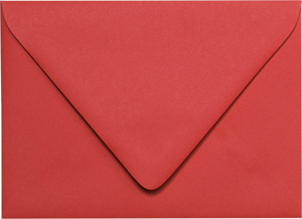 "A-7 Cherry Red Solid Euro Flap Envelopes (5 1/4"" x 7 1/4"") - Paperandmore.com"