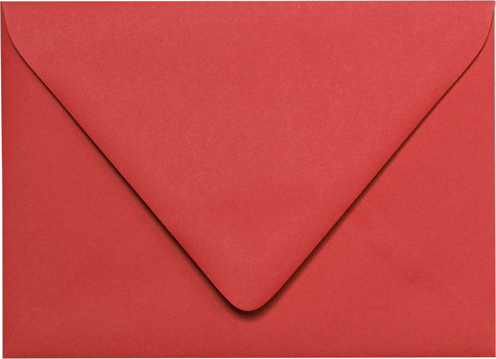 "A-2 Cherry Red Solid Euro Flap Envelopes (4 3/8"" x 5 3/4"")"