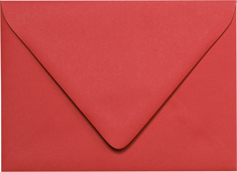 "A-2 Cherry Red Solid Euro Flap Envelopes (4 3/8"" x 5 3/4"") - Paperandmore.com"