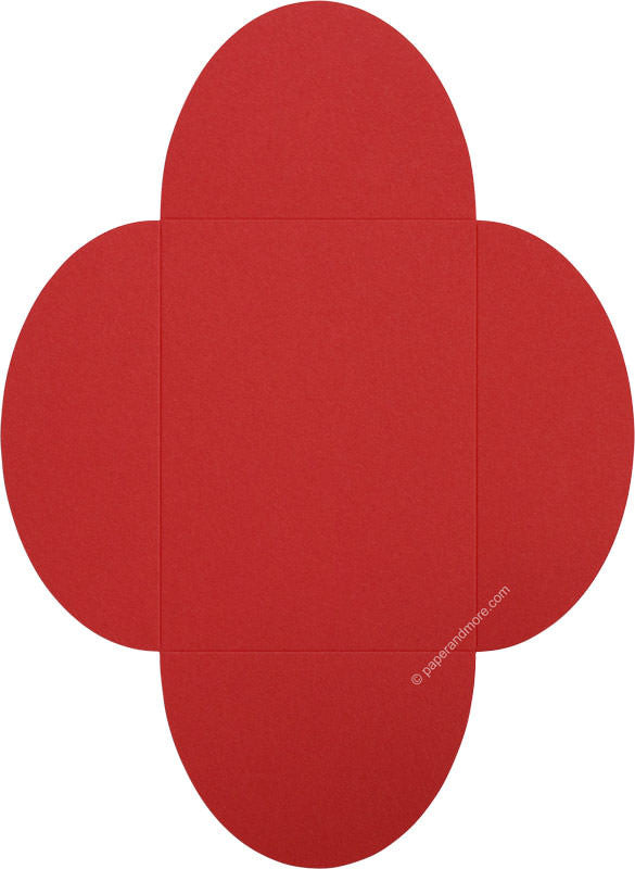 "Cherry Red Solid Petal Card 100#, 5 1/8"" x 7"" - Paperandmore.com"