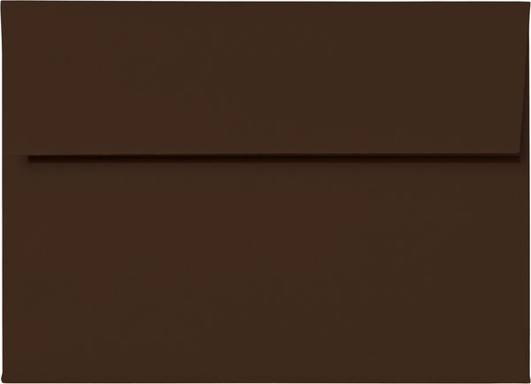 A-7 Chocolate Brown Solid Envelopes (5 1/4
