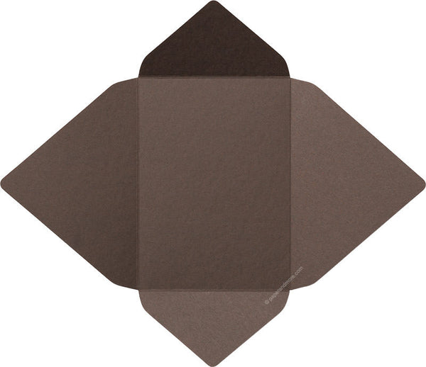Chocolate Brown Solid - A-7 Euro Flap Card Enclosure