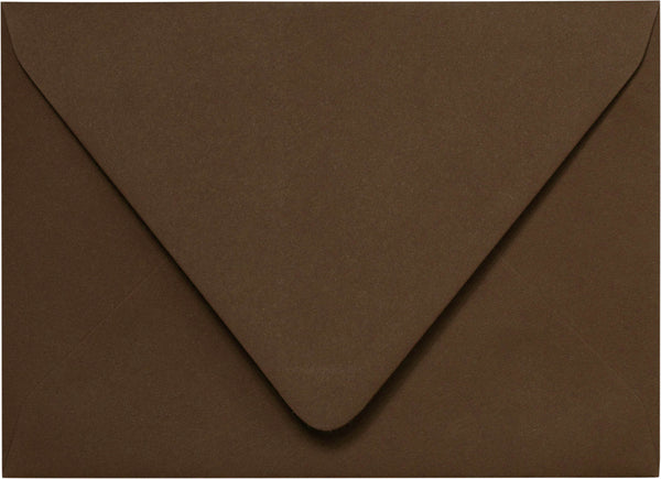 "A-2 Chocolate Brown Solid Euro Flap Envelopes (4 3/8"" x 5 3/4"") - Paperandmore.com"