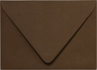"A-1 (4 Bar) Chocolate Brown Solid Euro Flap Envelopes (3 5/8"" x 5 1/8"") - Paperandmore.com"
